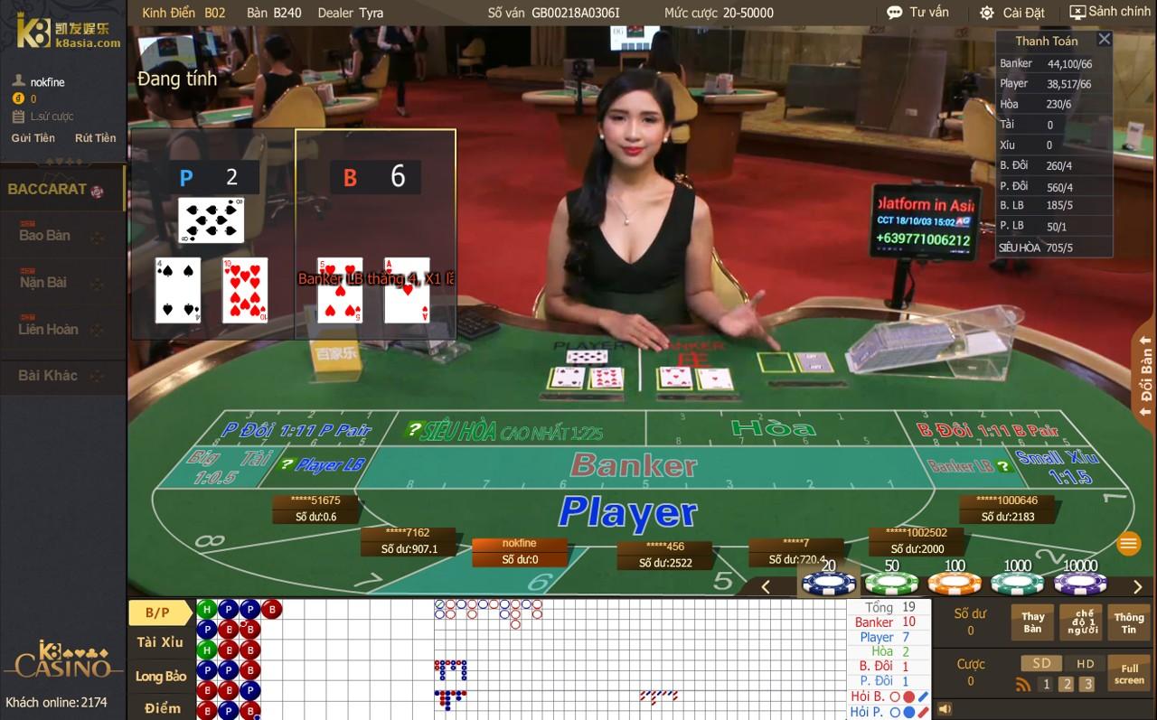 Luật rút bài Banker Player trong Baccarat