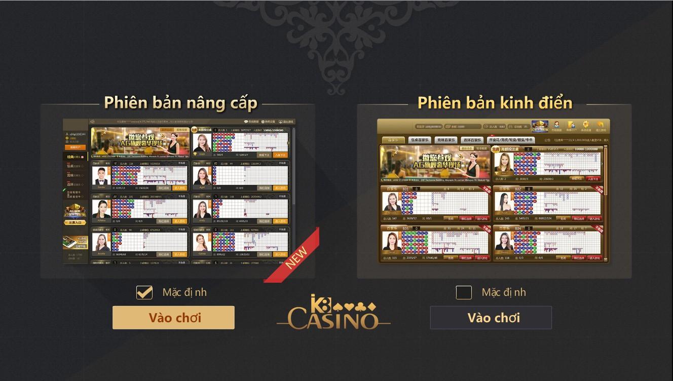 Vào sảnh casino trực tuyến AG của K8