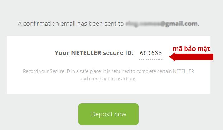 Mã bảo mật tài khoản Neteller